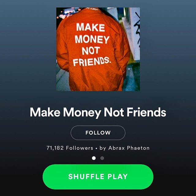 """@abrax_phaeton thanks so much for adding """"Sleeping on Me"""" to your Spotify playlists 🙏🏻"""