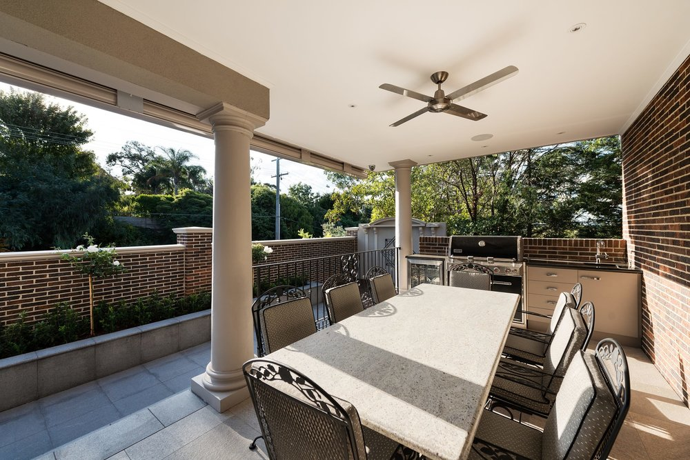 Goldenview, Outside Alfresco, by Bellemore Homes in Wheelers Hill, Victoria