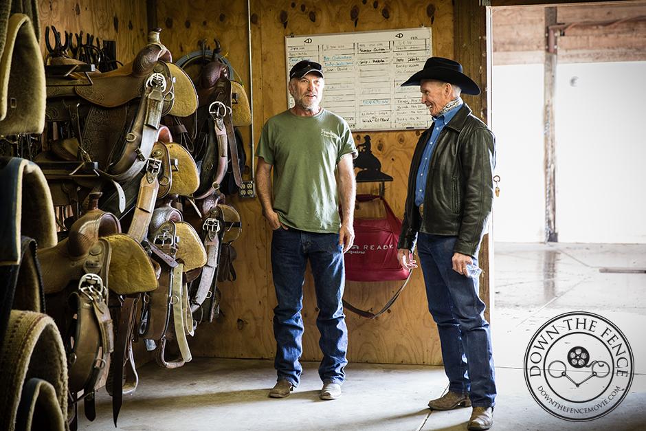 Ted Levine and Doug Williamson talking horses
