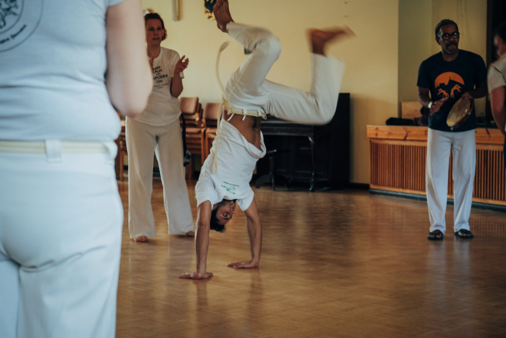 Ihab got in contact with Capoeira martial art few months after arriving in Finland. He immediately fell in love with it and kept practising as much as possible. Now, living in the city center is easier for him to attend the classes.