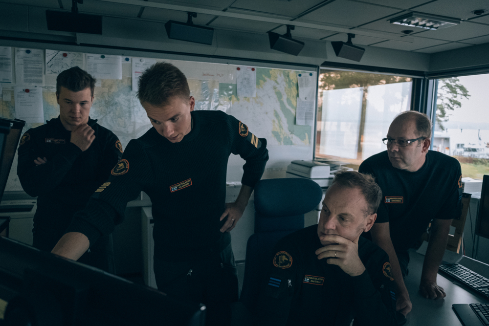 When an emergency happens Border Guards working at the sea are trained to respond within 30 minutes but usually it happens faster and after few minutes they're already on the boat.