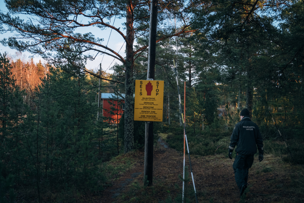 Frontier zone start generally some hundreds meters before the actual border line with Russia. The area is strictly interdict to any civilian.