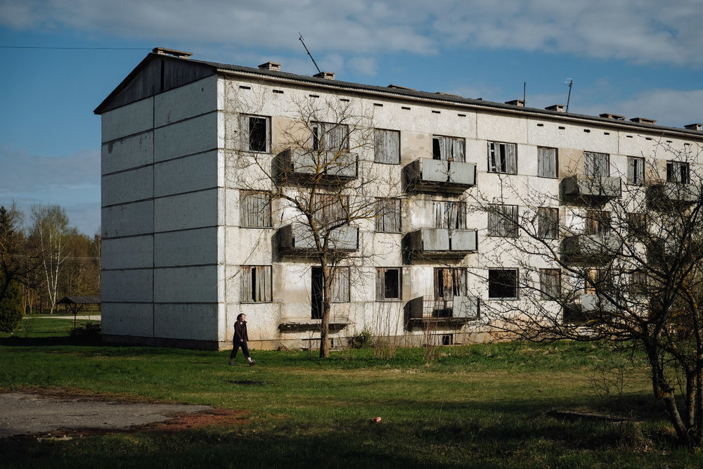 Zasa - Jekabpils province. Like almost every other place in the area the village has many abandoned buildings.