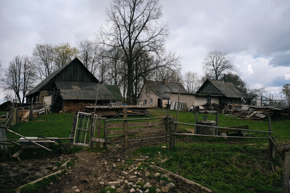 Skrudaliena - Latgale. Dimitrij's farm, where he lives with his family and his old dad, taking are of few cows and chickens.