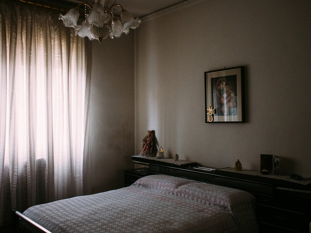 Maria's bedroom - Tonina is a woman in her 50s. At the age of three she was diagnosed with muscular dystrophy.