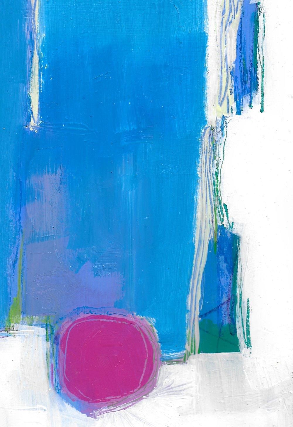 Alicia Chimento - Settling - Oil on paper