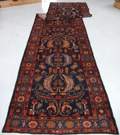 Traditional Tajabad Runner    Size Measurements: 507cm x 112cm