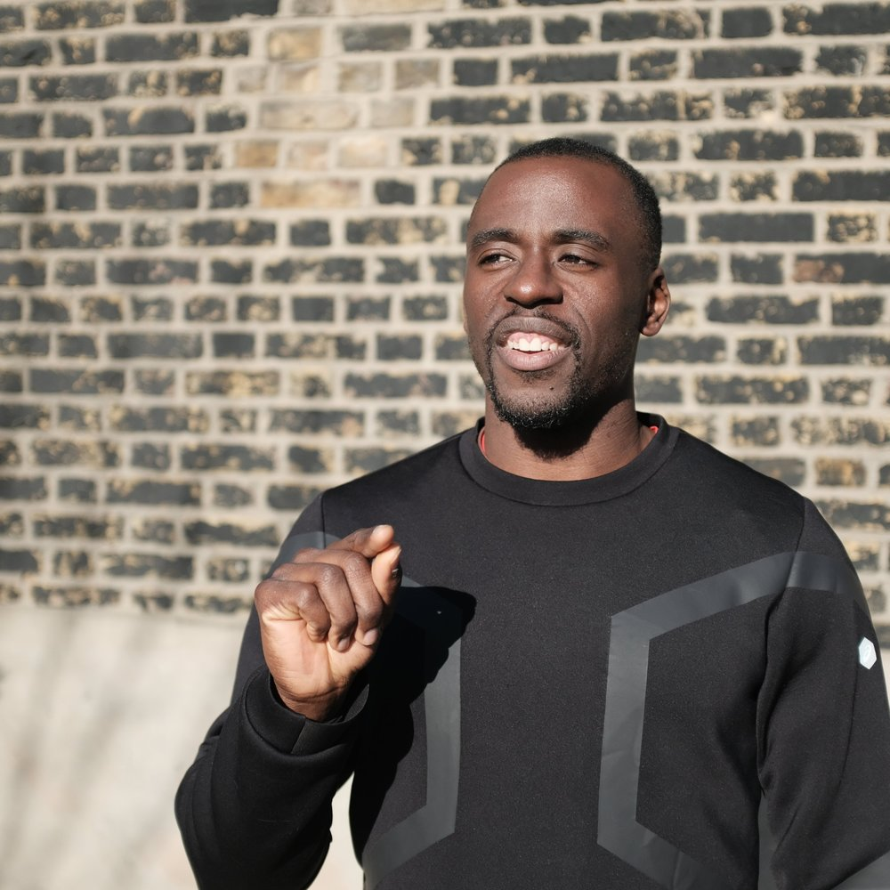 JJ JEGEDE - 3x British long jump champ, E9 local and hard-training athletics coach.