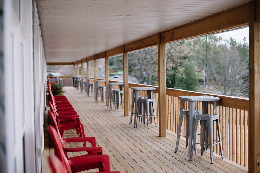 Our front deck, overlooking Wilson Lake.