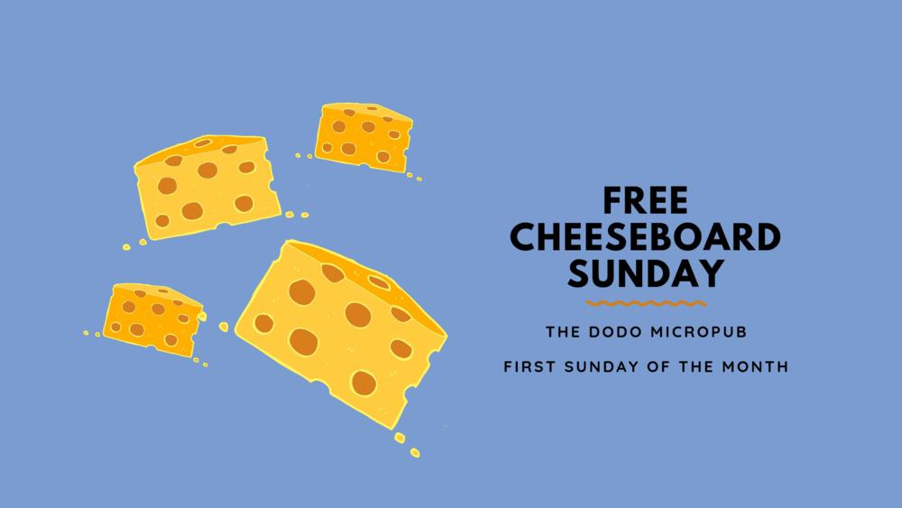 Free Cheeseboard Sunday Dodo Micropub