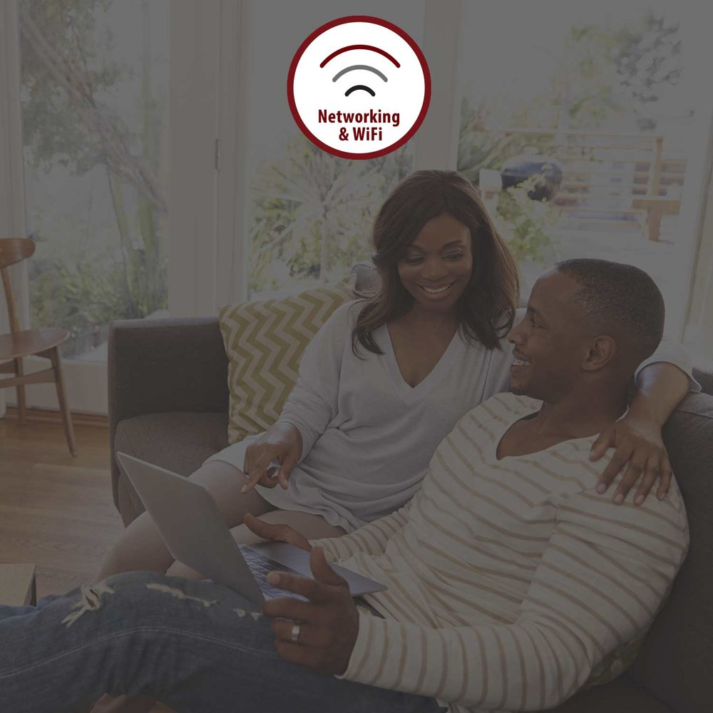NETWORKING & WIFI - We provide all of our clients a seamless network as a company standard. Our wireless mesh (interconnecting) networks can provide connectivity with all of your electronic devices in your home.LEARN MORE >
