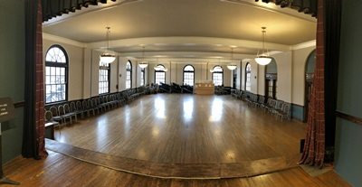 Panorama of our newly painted Ballroom