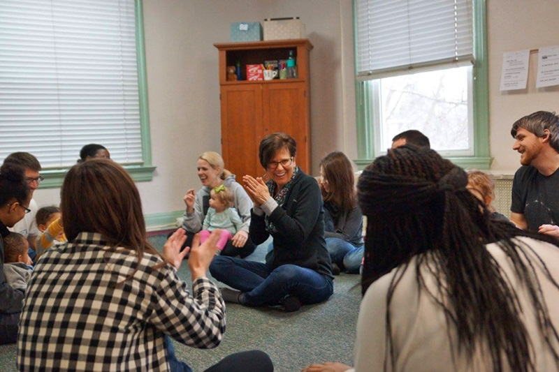 Ms. Mary with our Family Music class!