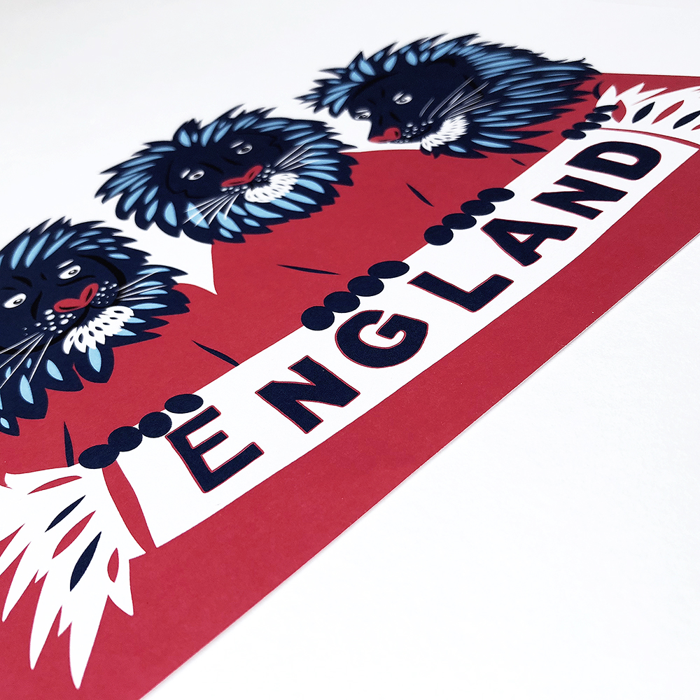 Three Lions - second detail