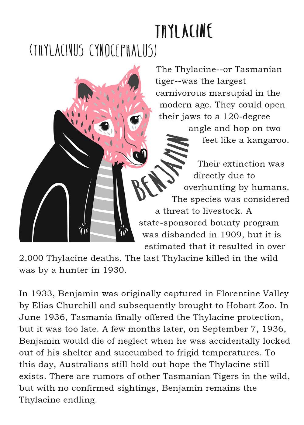 Famous Endlings: Benjamin