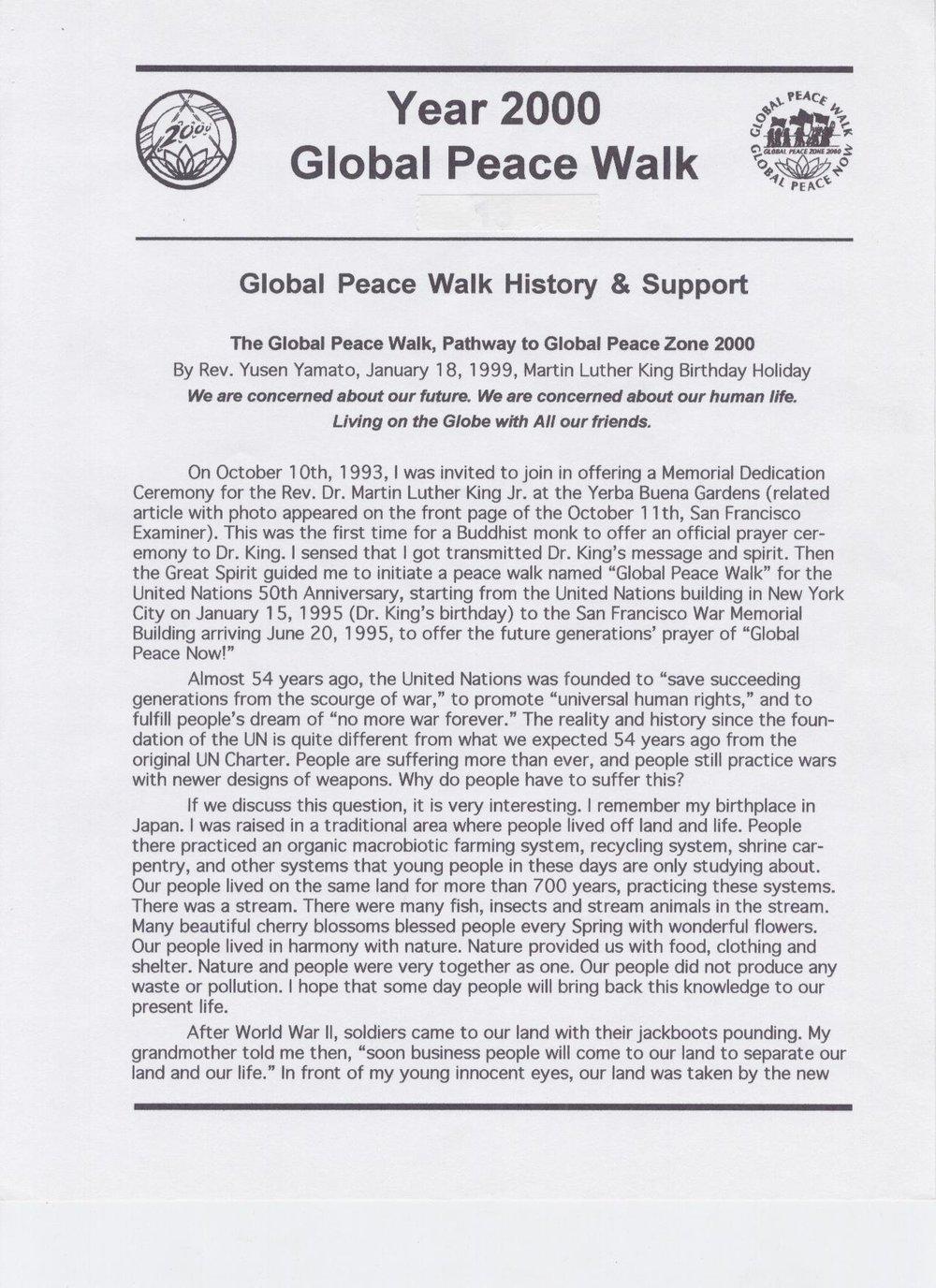 Global Peace History -