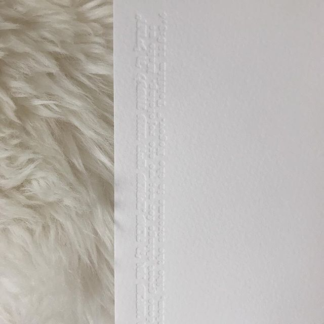 #blinddeboss letterpress on #arturo italian fine stationery make a stunning pair, don't you think? i sure do.