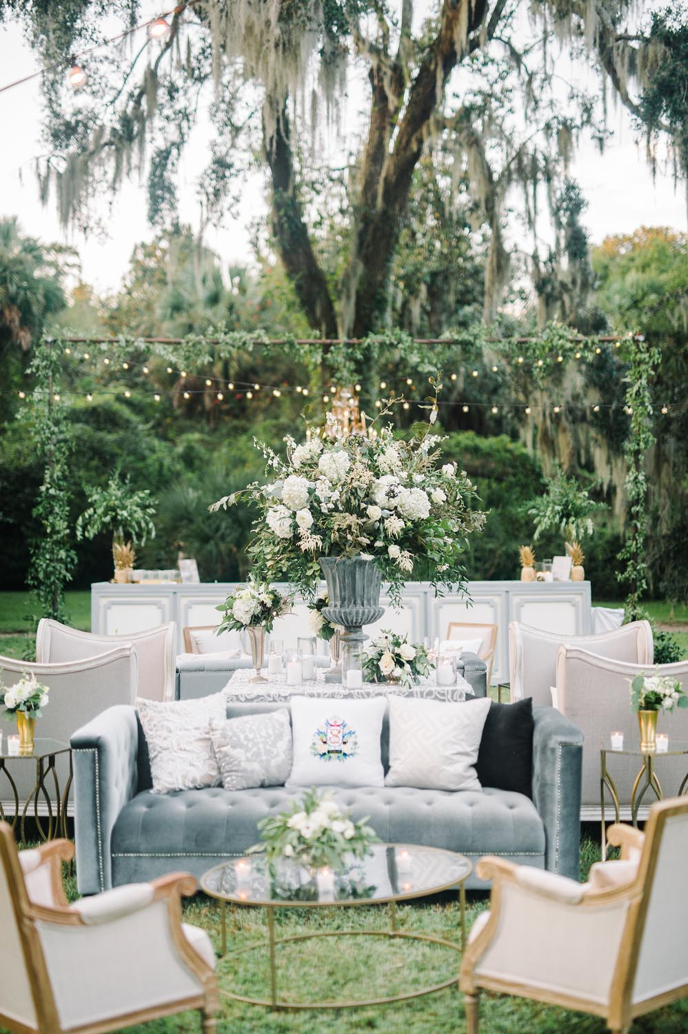 They started with a bold custom created crest for this classic southern wedding. Wedding planning and design by A Charleston Bride