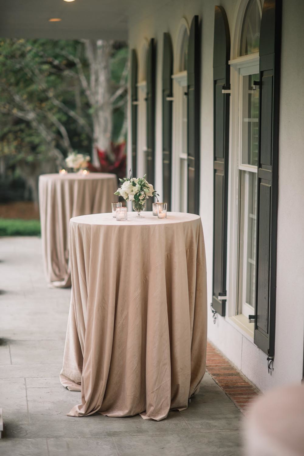 With the help of Crush Events we transformed the backyard (and family tennis court) into the most romantic space. Wedding planning and design by A Charleston Bride.