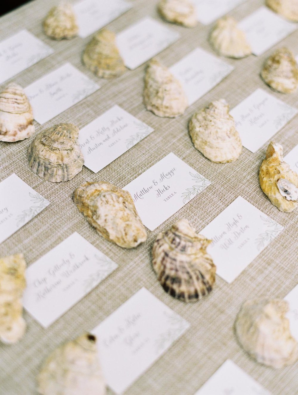 Coastal wedding details. Wedding planning and design by A Charleston Bride.