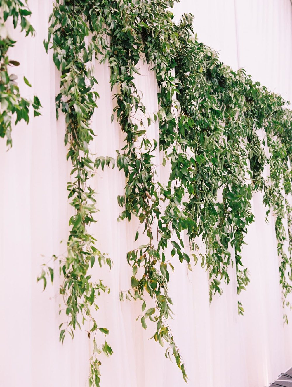 Cascading greenery & white floral Charleston wedding. Wedding planning and design by A Charleston Bride.