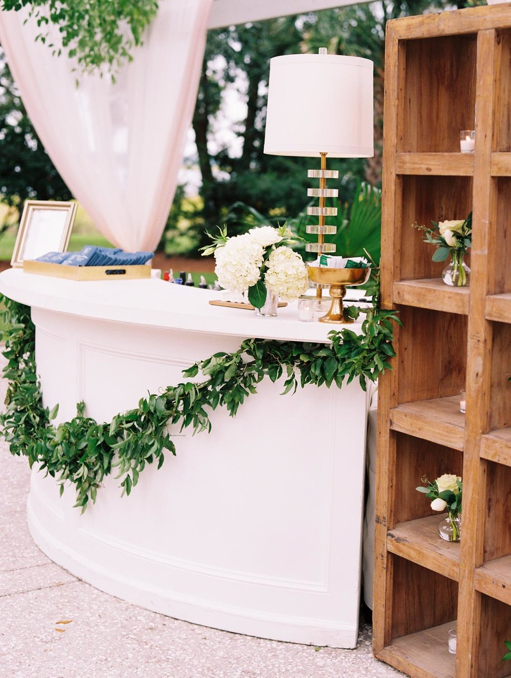 Wedding bar details. Wedding planning and design by A Charleston Bride.