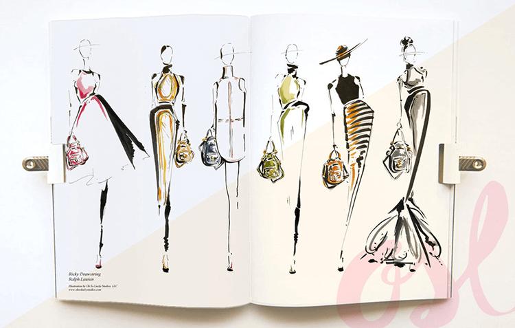 Live fashion illustration - Ralph Lauren: Ricky Bag Launch Series