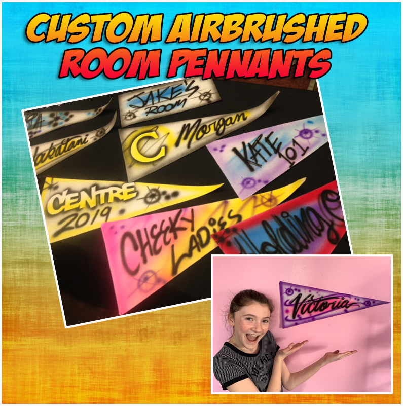 Room Pennants…great for kids rooms, Dorm Rooms, Man caves.