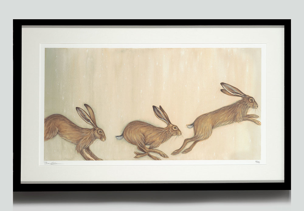 Framed Prints - My limited edition giclée prints are available up to the size of the original painting. These are printed with archival inks on 100