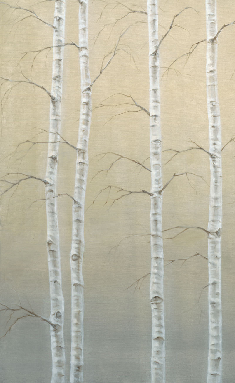 Tall Birches (detail)