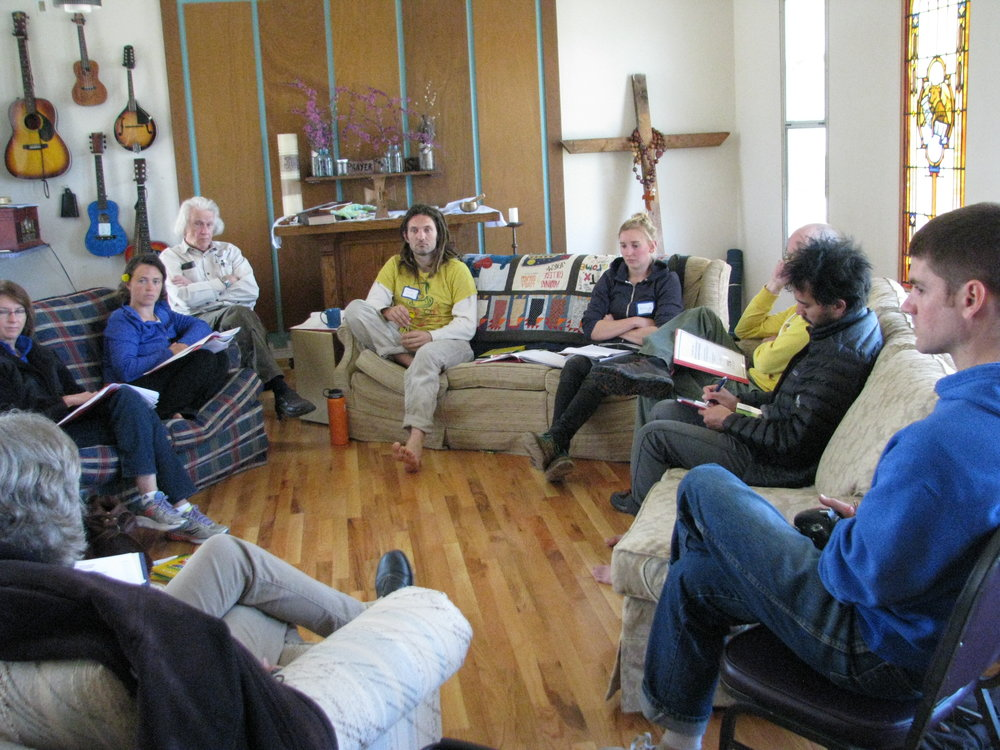 Members of Kansas City's Jerusalem Farm community participate in a CCR neighborhood accountability board training. The skills they learn through the training will help resolve conflicts that might occur among Jerusalem Farm neighbors.