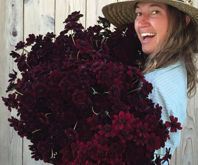 Zoe Hitchner - Flower Program Manager + Lead DesignerZoe has been working with flowers since she was 15 years old! For the last 5 seasons she has been growing and designing at Front Porch Farm in Healdsburg where she also captains the company's rec. softball team.She believes flowers can help change the world.