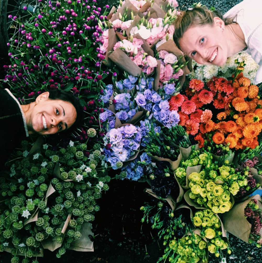Flower Crew - Awesome team of great people!The seasonal flower crew is made up of hardworking, wonderful humans who assist in then entire flower program, from growing to harvesting and designing!So fun!