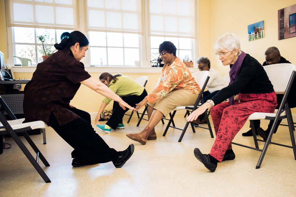T'ai Chi at one of JABA's Community Senior Centers.