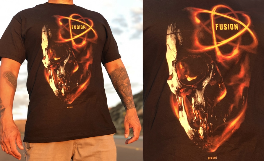 Fusion Ink Fire Skull T-Shirt — Fusion Tattoo Ink