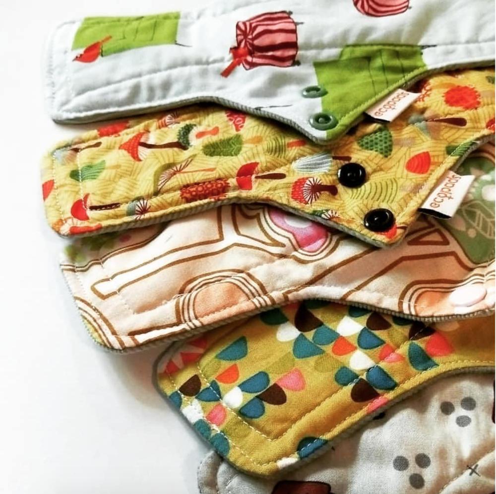 Image of reusable menstrual pads from @ecopadsaustralia instagram