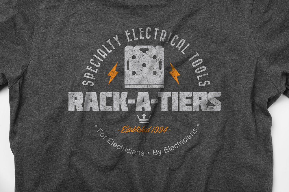 T-Shirt Design: Rack-A-Tiers - Specialty Electrical Tools