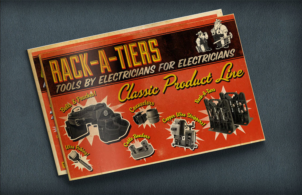Catalog Design: Rack-A-Tiers MFG