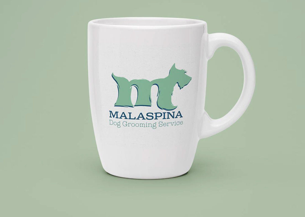 Logo Design: Malaspina Dog Grooming