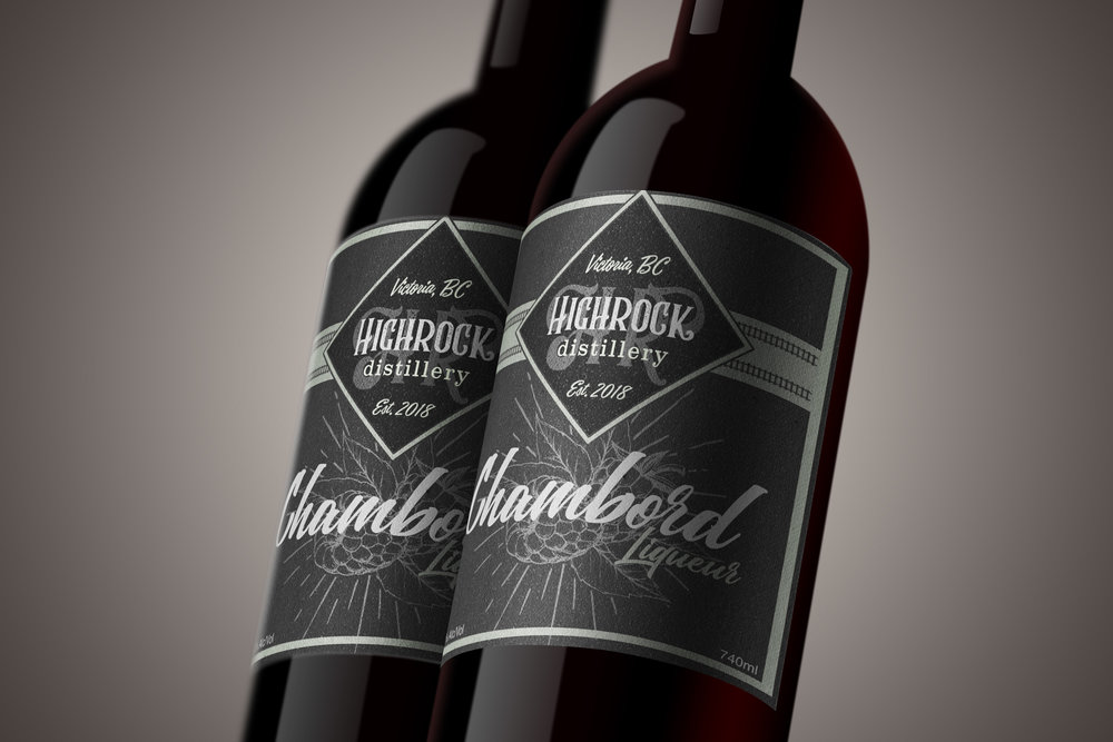 Label & Branding Design: Highrock Distillery