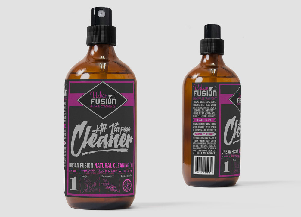 Label Design: Urban Fusion All-Purpose Cleaner