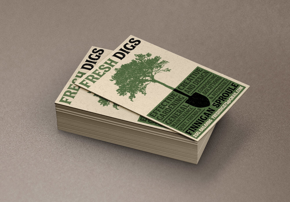 Business Card Design: Fresh Digs Landscaping