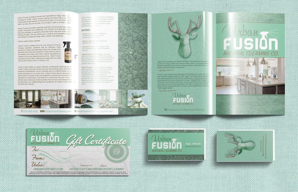 Branding Package: Urban Fusion Cleaning Co.