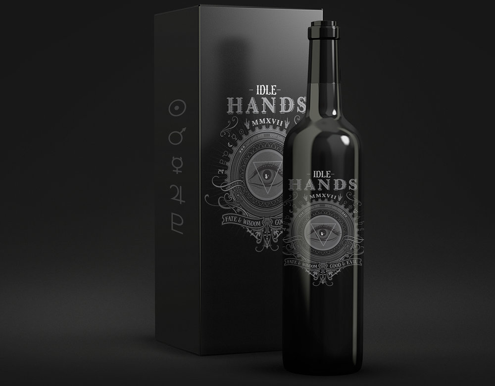 Product Packaging:  Idle Hands Wine