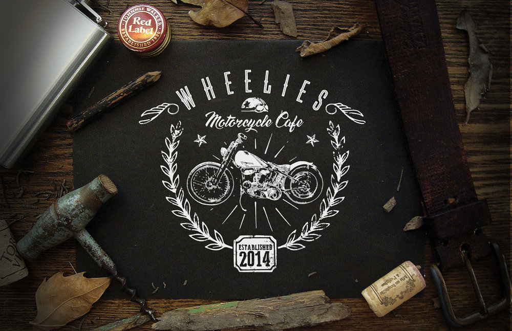 Garment Design: Wheelies Motorcycle Cafe
