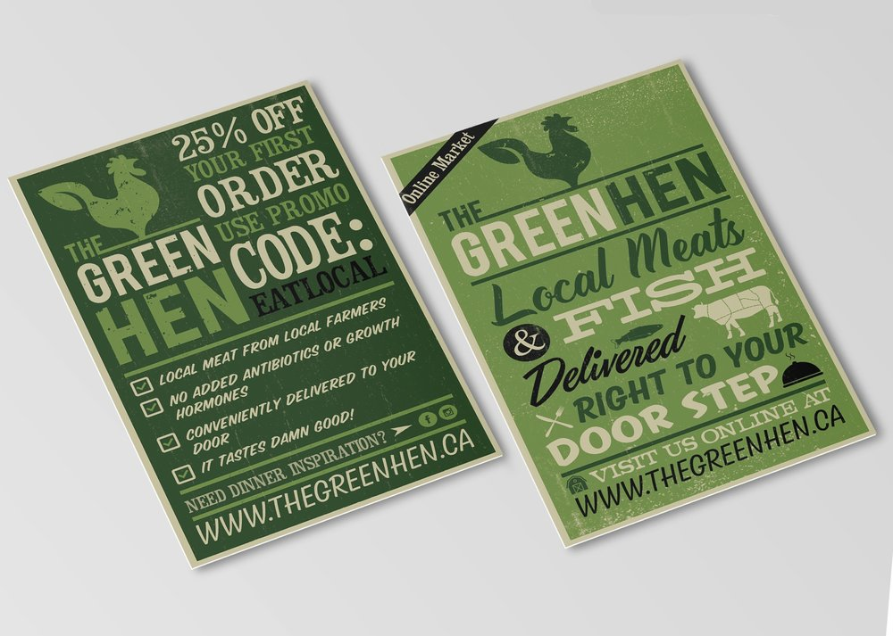 Postcard Design: The Green Hen