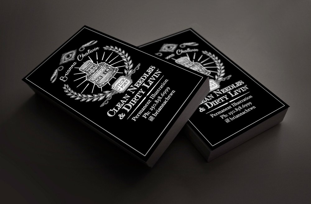 Business Card Design: Brianna Chatwin, Tattoo Artist