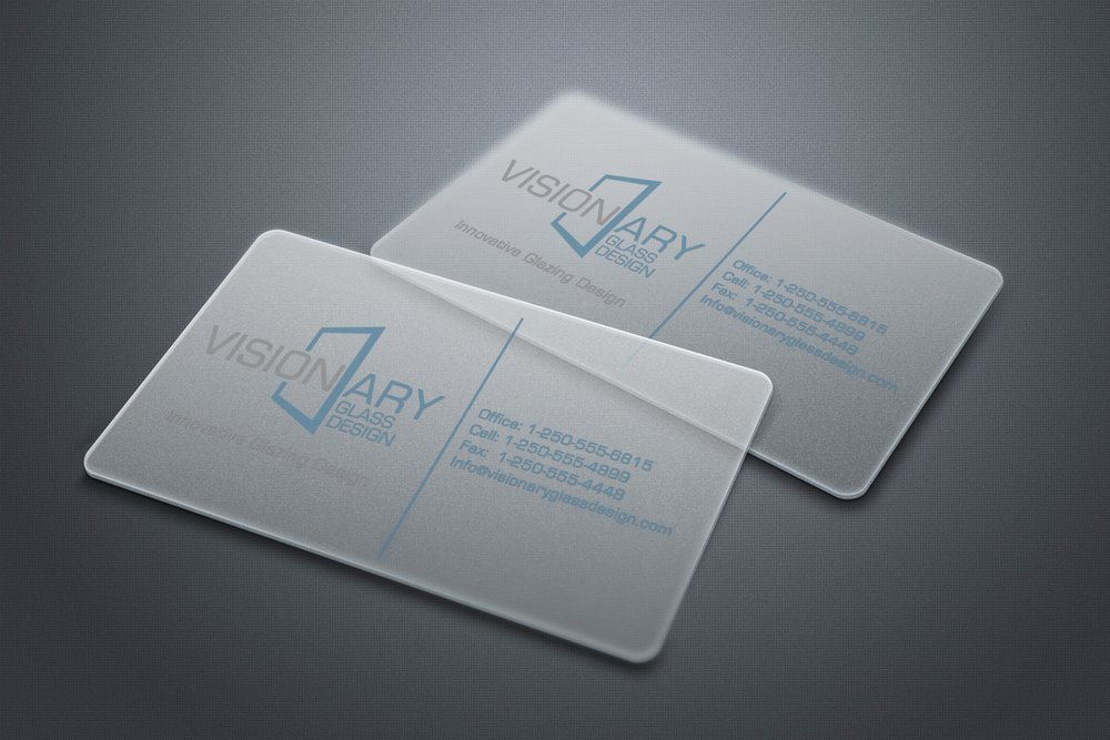 Logo & Business Card Design: Visionary Glass Design