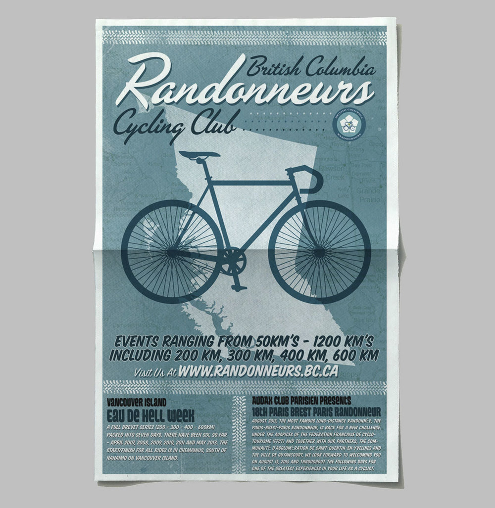 Poster Design: British Columbia Randonneurs Cycling Club
