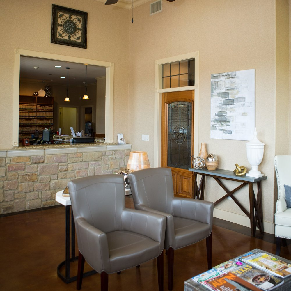 Our Office - With our convenient location in Cedar Park, TX, we serve the surrounding communities of Round Rock, Austin, Leander, and Jonestown.We are your local family friendly dental office, able to manage everything from cleanings and exams for your whole family to cosmetic dentistry, veneer, implants, orthodontics, and sleep apnea treatment.